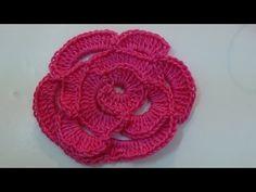 ▶ Crochet Rose Flower - YouTube