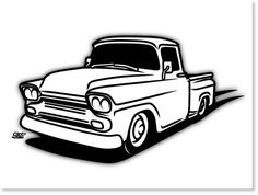 Vintage Pick Up Truck Stock Illustrations