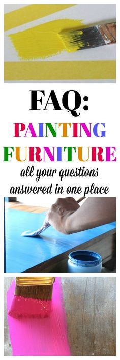 All your questions about painting furniture answered in one place. Great guide…