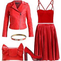 965c834f96c3 Purché sia rosso  outfit donna Sexy per tutti i giorni