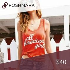 listing! WILDFOX All American Girl Tank  Relaxed fit super soft tank. Size XS 50% cotton 50% polyester Wildfox Tops Tank Tops
