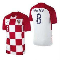 Men  8 Mateo Kovačić Jersey Croatia National 2018 FIFA World Cup Fanatics 4276c0c2f