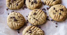 Healthy Vegan Salted Peanut Butter Cacao Nibs Cookies. GF - HEALTHYFRENCHWIFE