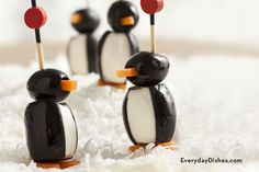When it comes to these delightful little penguins, who can resist playing with their food? These penguin poppers make the perfect holiday appetizer!
