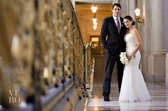 white + gold. San Francisco City Hall Wedding » Vero Suh Photography