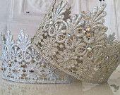 O, la, la. I love these Lace Rhinestone Crowns