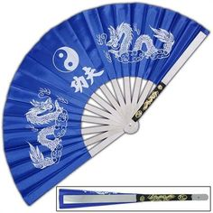 Japanese Tessen-Jutsu Iron Fan Tai Chi Blue by Armory Replicas. $10.99. A white dragon imprint is featured on the blue nylon fan. Mirror finished stainless steel guards.. Save 48%!