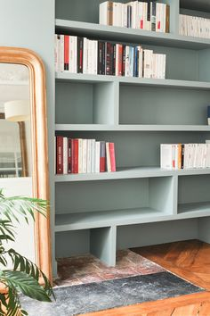 RNOVATION APPARTEMENT BLEU Poitou Charentes Home Renovation Bookshelves Decoration Raisons Diy