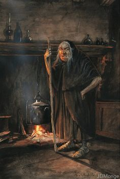 THE DEN OF THE WITCH BY JEAN BAPTISTE MONGE