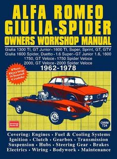 Alfa Romeo Spider Owners Work Manual (ebook) | Buy Online in South Africa | takealot.com
