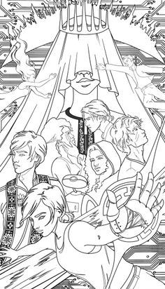The Lunar Chronicles Coloring Book Is Coming Next Year — EXCLUSIVE SNEAK PEEK