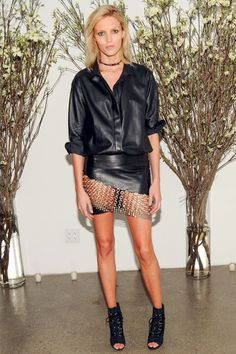 Anja Rubik en Anthony Vaccarello http://www.vogue.fr/mode/look-du-jour/articles/anja-rubik-en-anthony-vaccarello/18633