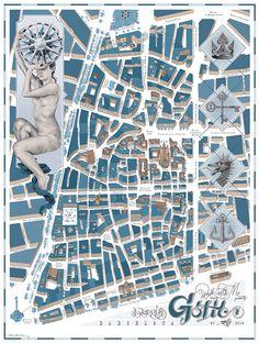 Walk With Me map of Barri Gotic area Barcelona by Chamo San