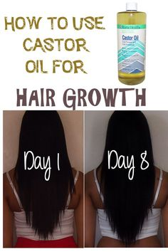 How to use Castor Oil to grow longer and healthier hair - Best oils for hair growth.
