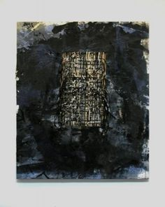 Rosy Keyser After Joy Division, 2009 Dye, enamel, sawdust, string, and rope on canvas 90 x 72 inches (229 x 183 cm)