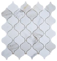 """Product Attributes Item: Premium (SELECT)Quality Italian Calacatta GoldMarble  POLISHED OR HONED LANTERN ARABESQUE (MOROCCANDESIGN) MOSAIC TILE (ON-MESH) Dimensions (per piece): 3"""" (Width) X 3"""" (Length) X 3/8"""" (Thickness) Material:  Premium Italian Calacatta GoldMarble Coverage: 1 sheet = 1sq. ft. Application Area(s): Commercial and Residential (Interior & Exterior), Shower, Backsplash, Countertop, Deck & Patio, Deco..."""