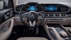 Mercedes-Benz GLS SUV: volante multifunzione in pelle e legno Gls Mercedes, Mercedes Benz Cars, Luxury Suv, Tube, Night, Design