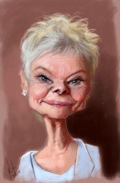 Judi Dench. Photoshop and wacom tablet.
