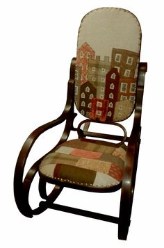 applique & patchwork rocking chair by Rustique Interiors