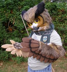 fursuit: Great Horned Owl Costume Finished!