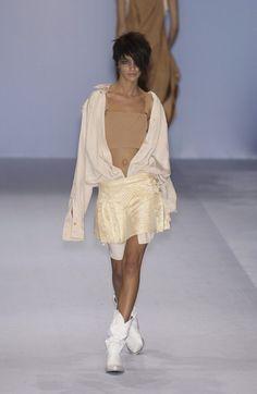 Jean Paul Gaultier at Paris Fashion Week Spring 2004 - Runway Photos Vintage Fashion 90s, Jean Paul Gaultier, Paris Fashion, Runway, White Dress, Spring, Clothes, Dresses, Photos