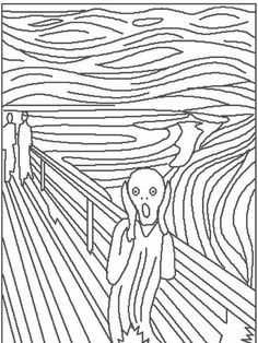 The Scream coloring page