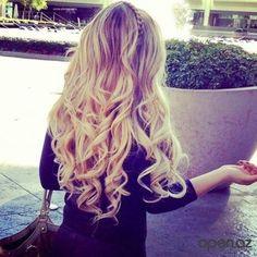 side braid Hair long blonde hair blonde curls with braid .VE my hair to look like this! Blonde Braids, Blonde Curls, Curly Blonde, Blonde Waves, Curls Hair, Wavey Curls, Hairstyles Haircuts, Pretty Hairstyles, Amazing Hairstyles