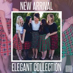 Check out the new LuLaRoe Elegant Collection!!  #lularoe #lularoebutterbritches #lularoeplaid #lularoeholidaycollection2016 www.butterbritches.com