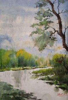 landscape... - Painting by charusohel Rana in my  water color landscape.......BEAUTIFUL BANGLADESH at touchtalent 38790