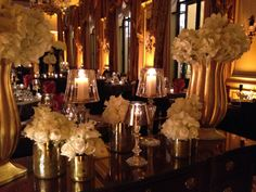 New Year's Eve 2013 @Four Seasons Hotel George V Paris in salon Anglais, stunning floral designs by @Jeff Leatham complemented by Baccarat cristals