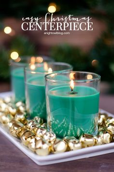 Easy Christmas Centerpiece with Air Wick Enchanted Holiday Collection