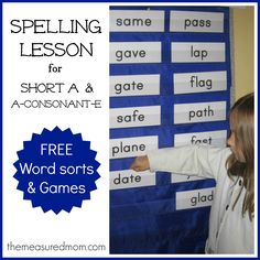 Word Study Lesson: Spelling short and long a words (a-consonant-e)