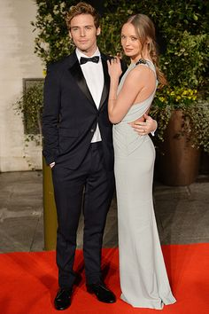 """Sam Claflin The Hunger Games' Finnick Odair wed Laura Haddock in July 2013. His love for her is almost Aaron Paul-level adorable, too. He told Glamour UK: """"Every five seconds I find myself falling harder and deeper in love."""" Cue them """"ahhhs,"""" folks."""