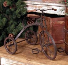 Rusty tricycle.
