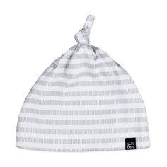 Gray Stripe Knotted Hat | VONBON | Organic Cotton Goods | #baby #babystyle #babyhat