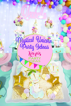 Magical and Mystical Unicorn party ideas at Kara's Party Ideas. Come on in!
