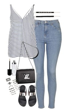 """""""Sin título #5401"""" by marianaxmadriz ❤ liked on Polyvore featuring Topshop, Louis Vuitton, Forever 21 and Zara"""