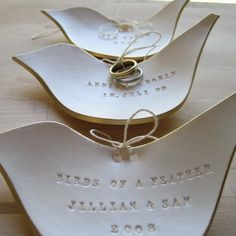 Items similar to personalized CUSTOM ring dish- Dove Ring Bearer Bowl- original wedding ring plate by Paloma's Nest- with Gold, Silver, or Plain rim on Etsy Ring Pillows, Classic Gold, Ring Dish, Wedding Gifts, Wedding Ring, Wedding Ideas, Wedding Decorations, Wedding Bells, Wedding Details