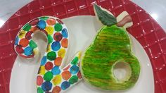 Hungry Hungry Caterpillar theme sugar cookies