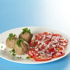 Bulgur frikadeller med tomatsalat