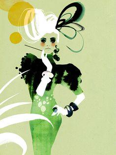 Ekaterina Koroleva #illustration. Looks like gay Parieee. Ooh La La.  B.