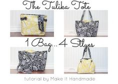 The Tulika Tote Tutorial By makeithandmade.com