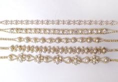 Romantic Pearl and Rhinestone Bridal Belt Sash in by GetNoticed