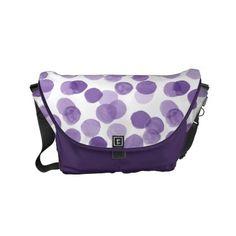 Big Purple Dots Pattern Small Messenger Bag - accessories accessory gift idea stylish unique custom