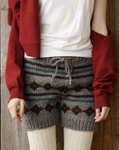 cute knit shorts