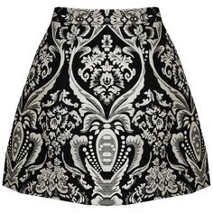 Alice + Olivia Loran Lantern Skirt With Pocket (1.150 BRL) ❤ liked on Polyvore featuring skirts, jacquard skirt, pocket skirt, pattern skirt, sexy black skirt and alice olivia skirt