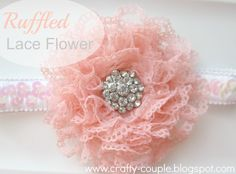 crafty couple: Simple Ruffled Lace Flower Tutorial