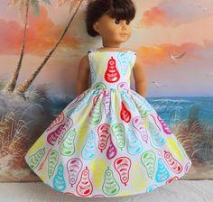 American Girl Doll Clothes Dress Bright Pear by sewgrandmacathy