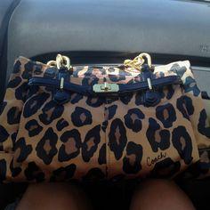Leopard Print Coach Purse