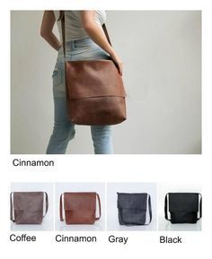 fc2a15cca6a8 Leather Messenger Bag Womens Satchel Leather Cross Body Bag Brown Leather Crossbody  Bag